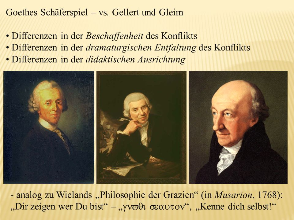 Goethes Schäferspiel – vs. Gellert und Gleim