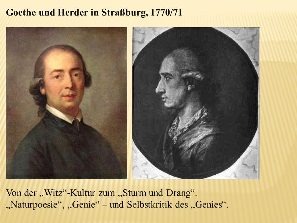 Goethe und Herder in Straßburg, 1770/71