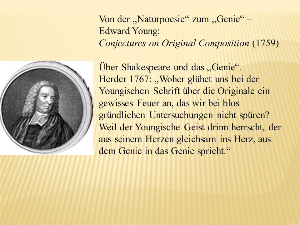 """Von der """"Naturpoesie zum """"Genie –"""