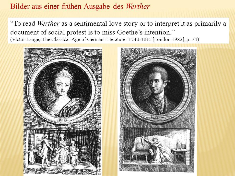 Bilder aus einer frühen Ausgabe des Werther