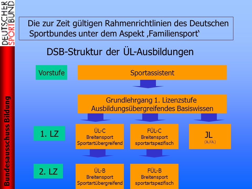 DSB-Struktur der ÜL-Ausbildungen