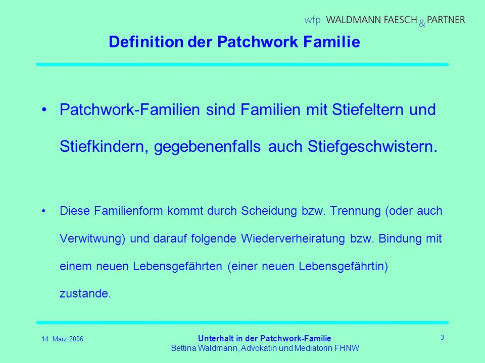 Definition der Patchwork Familie