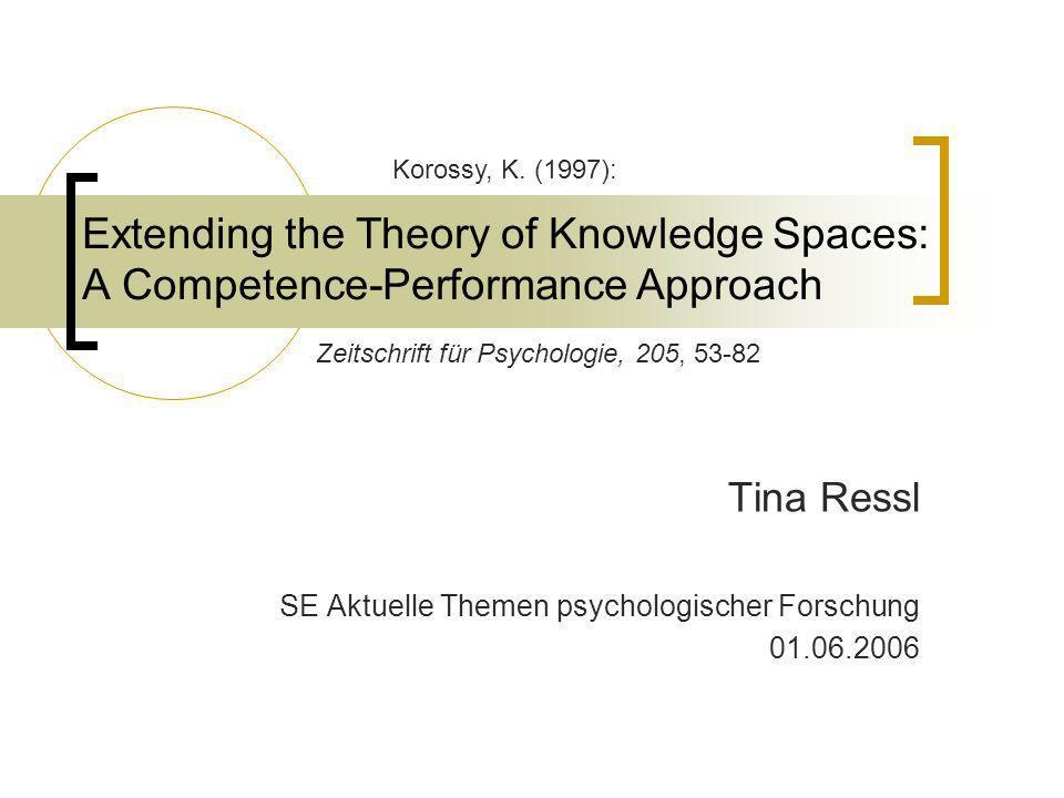 Tina Ressl SE Aktuelle Themen psychologischer Forschung 01.06.2006