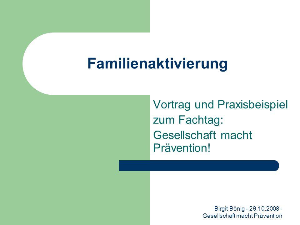 Vortrag und Praxisbeispiel zum Fachtag: Gesellschaft macht Prävention!