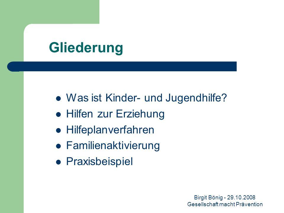 Birgit Bönig - 29.10.2008 Gesellschaft macht Prävention