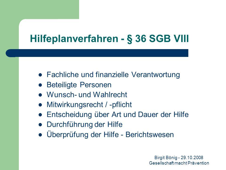 Hilfeplanverfahren - § 36 SGB VIII