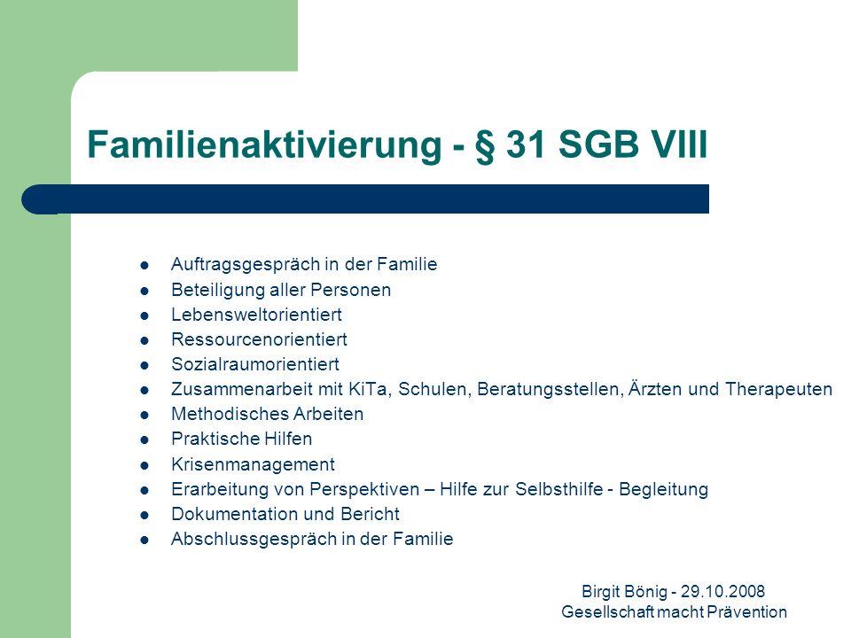 Familienaktivierung - § 31 SGB VIII