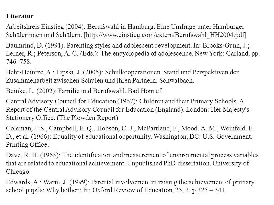 Beinke, L. (2002): Familie und Berufswahl. Bad Honnef.