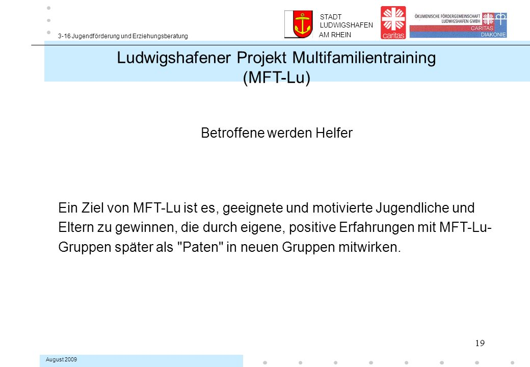 Ludwigshafener Projekt Multifamilientraining (MFT-Lu)