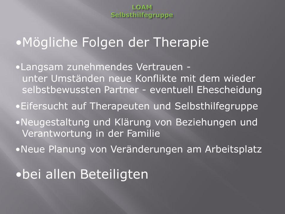 Mögliche Folgen der Therapie