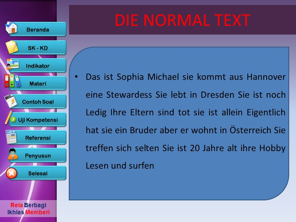 DIE NORMAL TEXT
