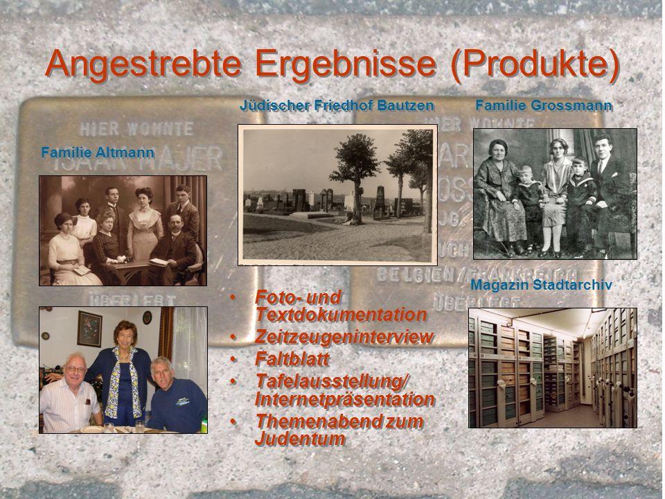 Angestrebte Ergebnisse (Produkte)