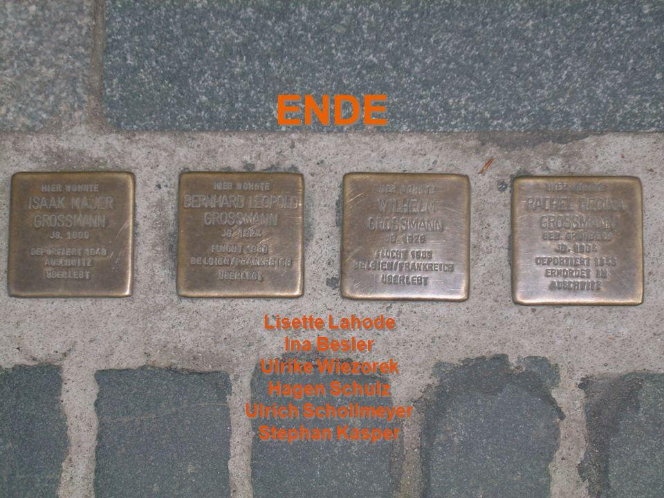 ENDE Lisette Lahode Ina Besler Ulrike Wiezorek Hagen Schulz
