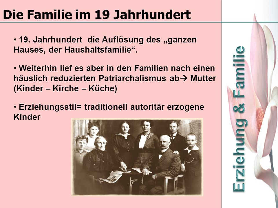 Die Familie im 19 Jahrhundert