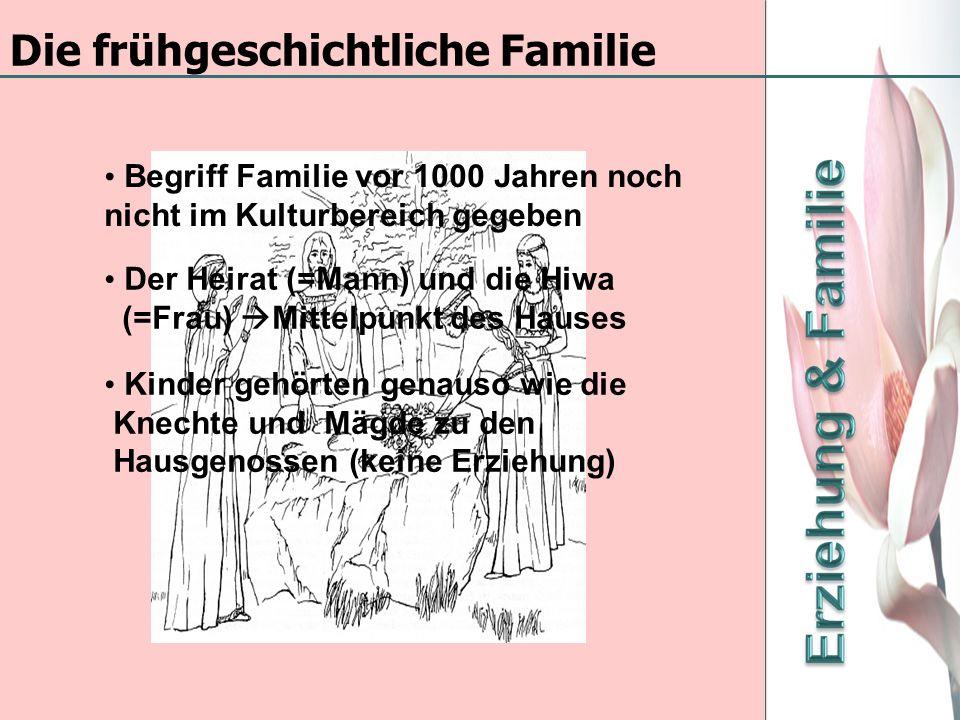Die frühgeschichtliche Familie