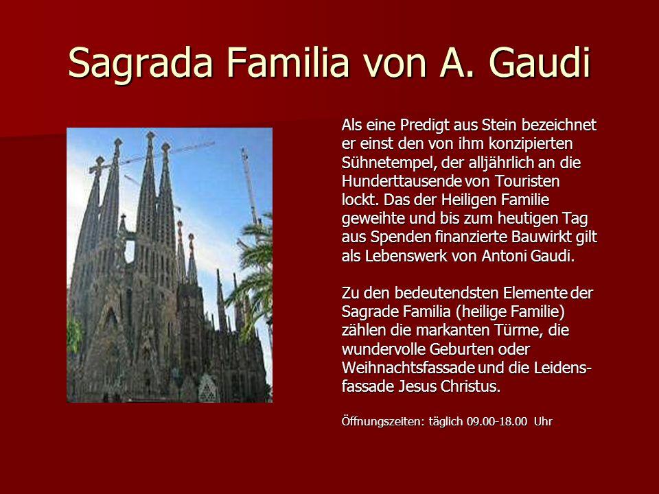 Sagrada Familia von A. Gaudi