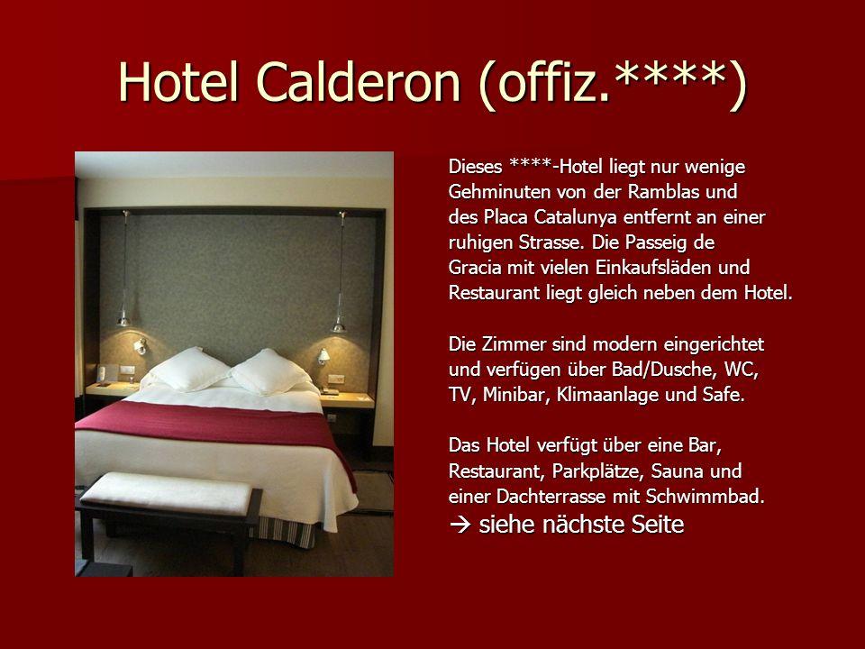 Hotel Calderon (offiz.****)