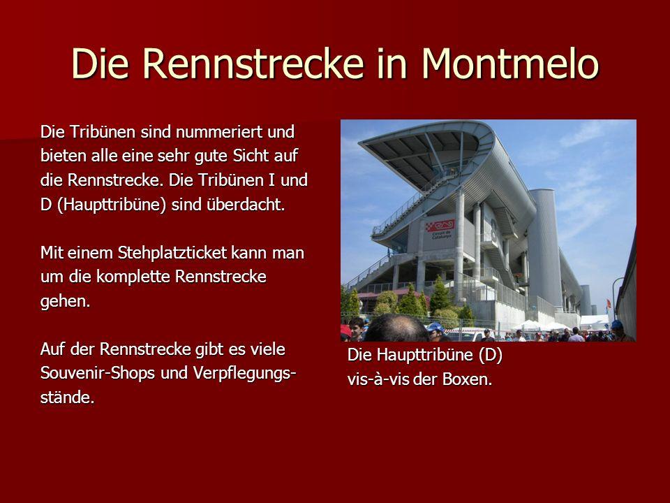 Die Rennstrecke in Montmelo