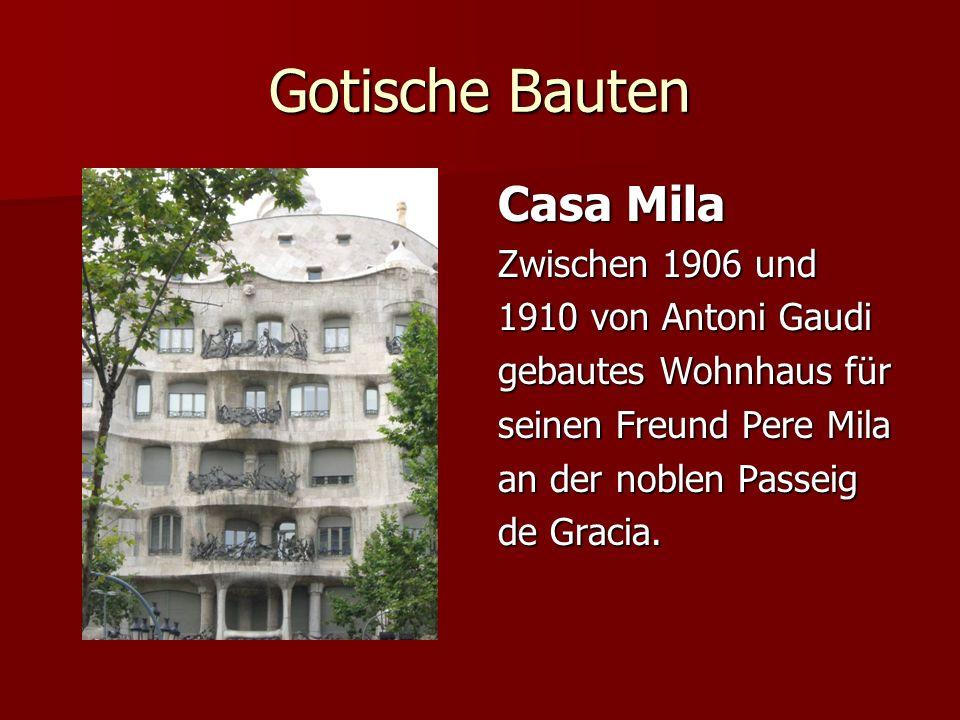 Gotische Bauten Casa Mila Zwischen 1906 und 1910 von Antoni Gaudi
