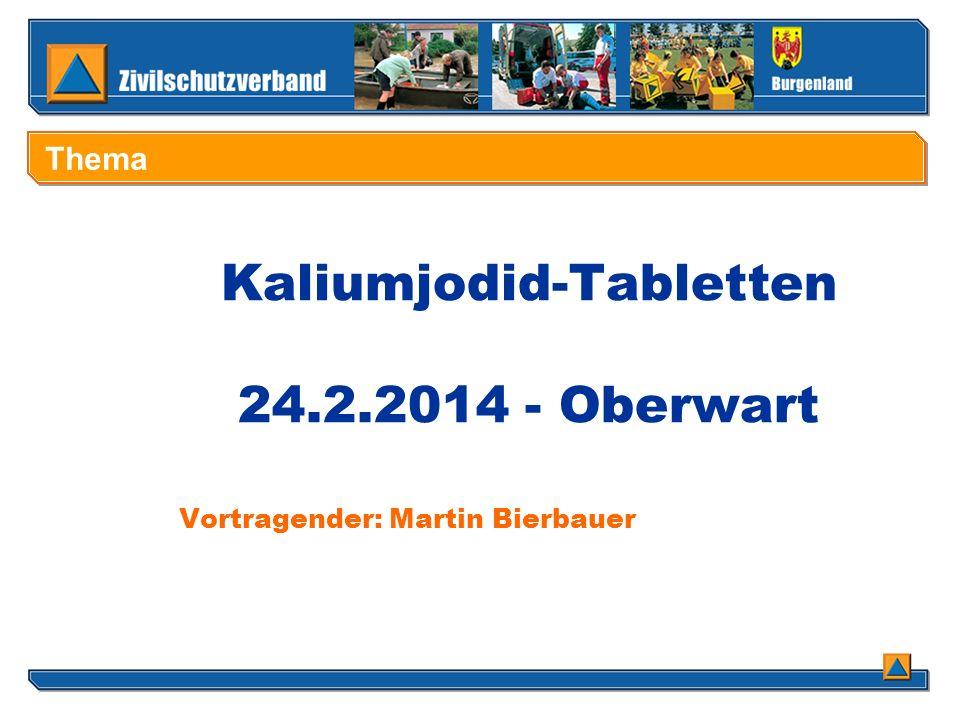 Kaliumjodid-Tabletten 24.2.2014 - Oberwart