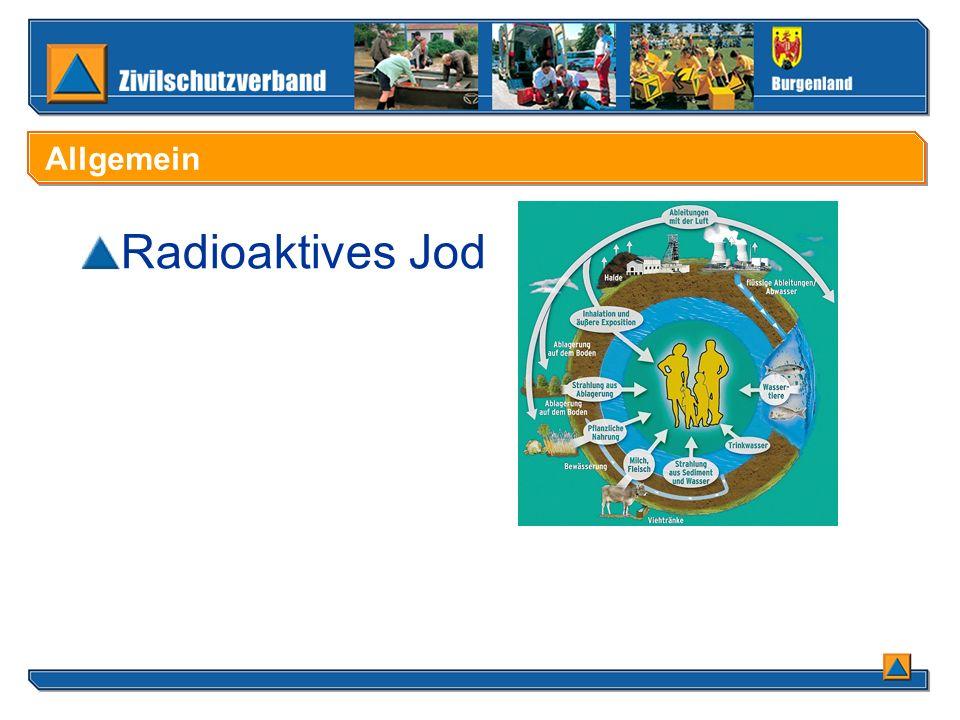 Allgemein Radioaktives Jod