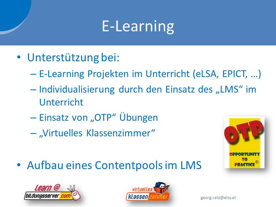E-Learning Unterstützung bei: Aufbau eines Contentpools im LMS