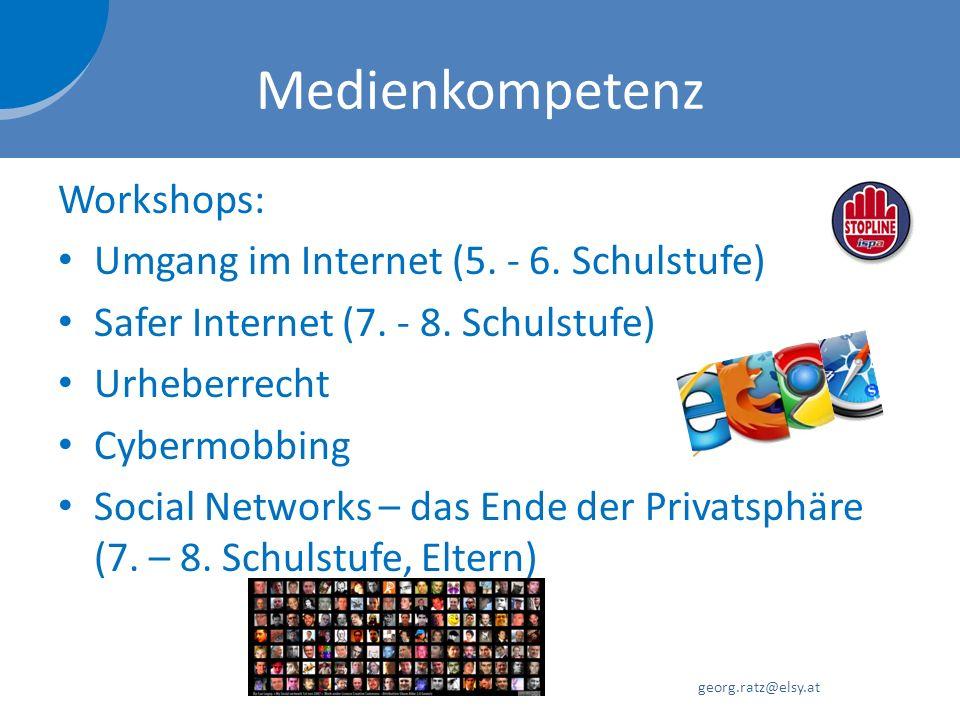 Medienkompetenz Workshops: Umgang im Internet (5. - 6. Schulstufe)