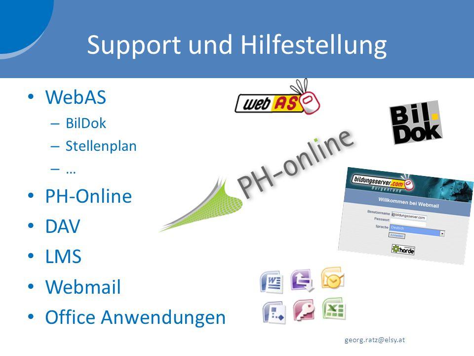 Support und Hilfestellung