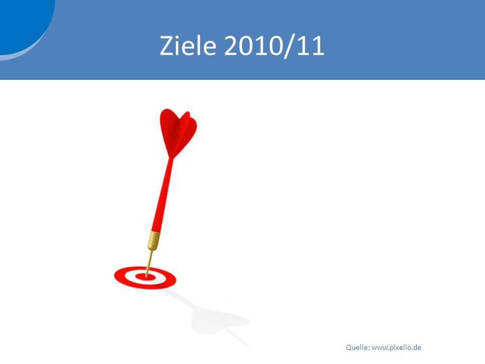 Ziele 2010/11 Quelle: www.pixelio.de
