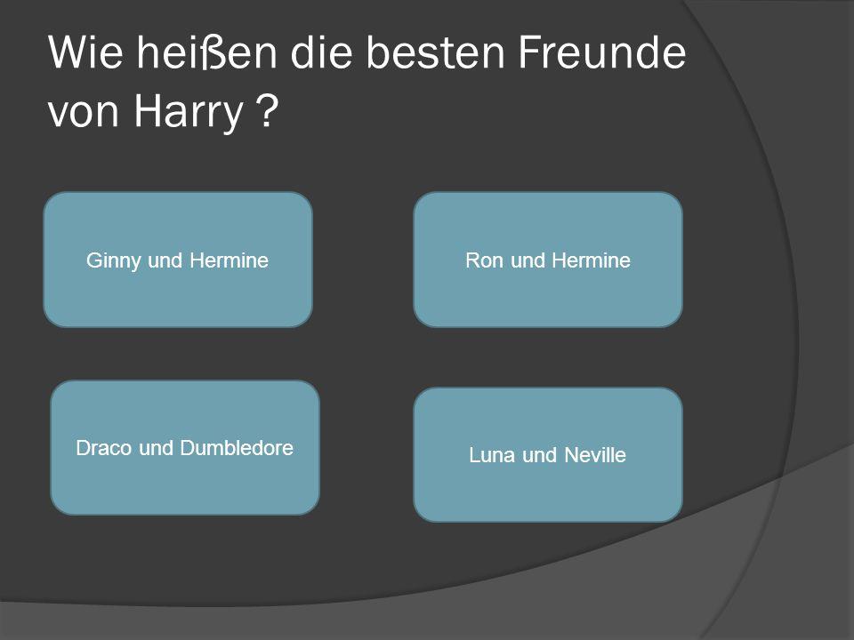 Wie heißen die besten Freunde von Harry