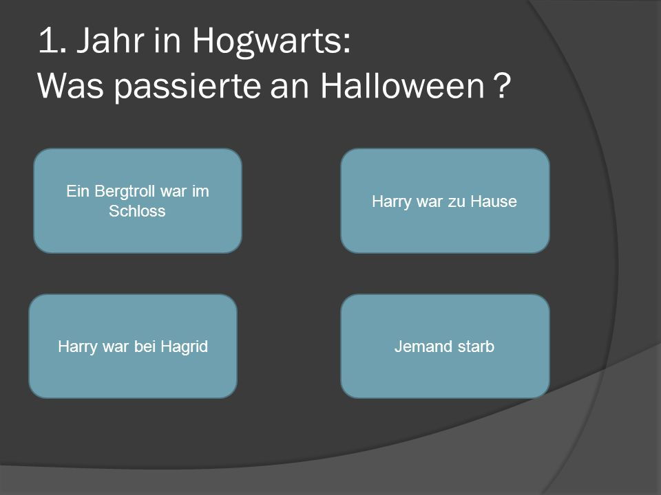 1. Jahr in Hogwarts: Was passierte an Halloween