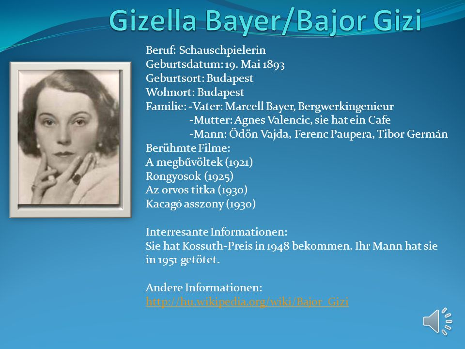 Gizella Bayer/Bajor Gizi