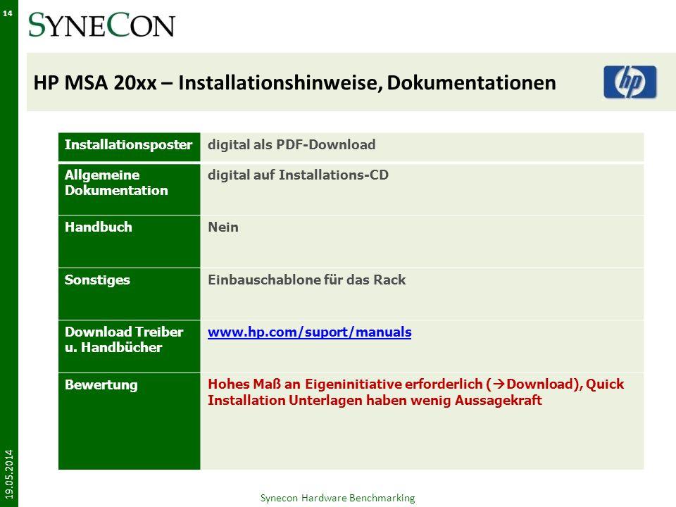 HP MSA 20xx – Installationshinweise, Dokumentationen