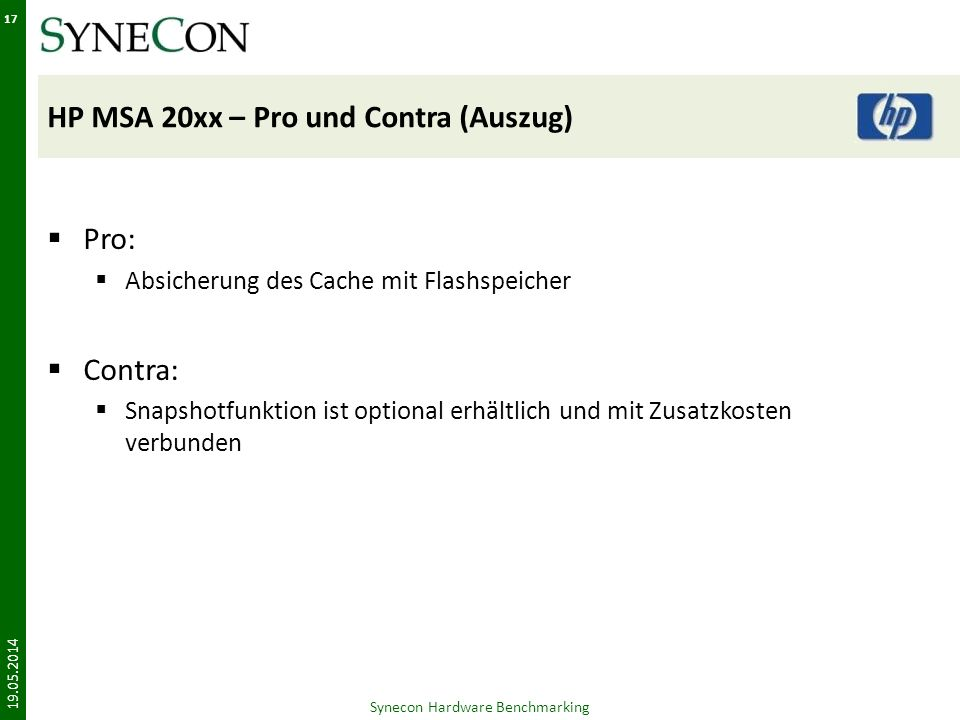 HP MSA 20xx – Pro und Contra (Auszug)