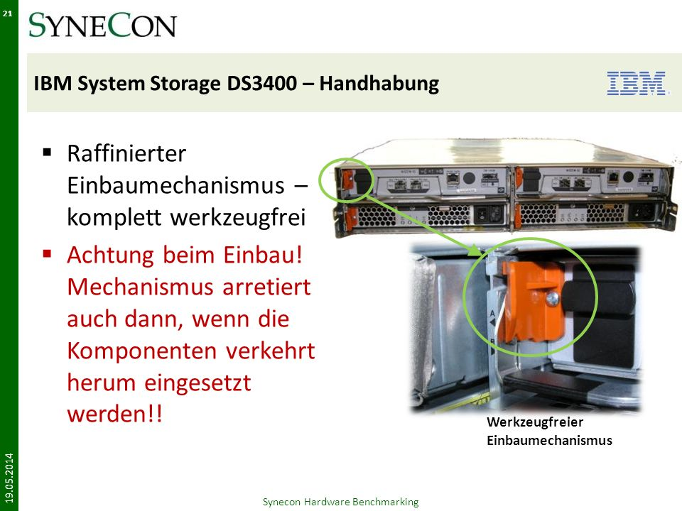 IBM System Storage DS3400 – Handhabung
