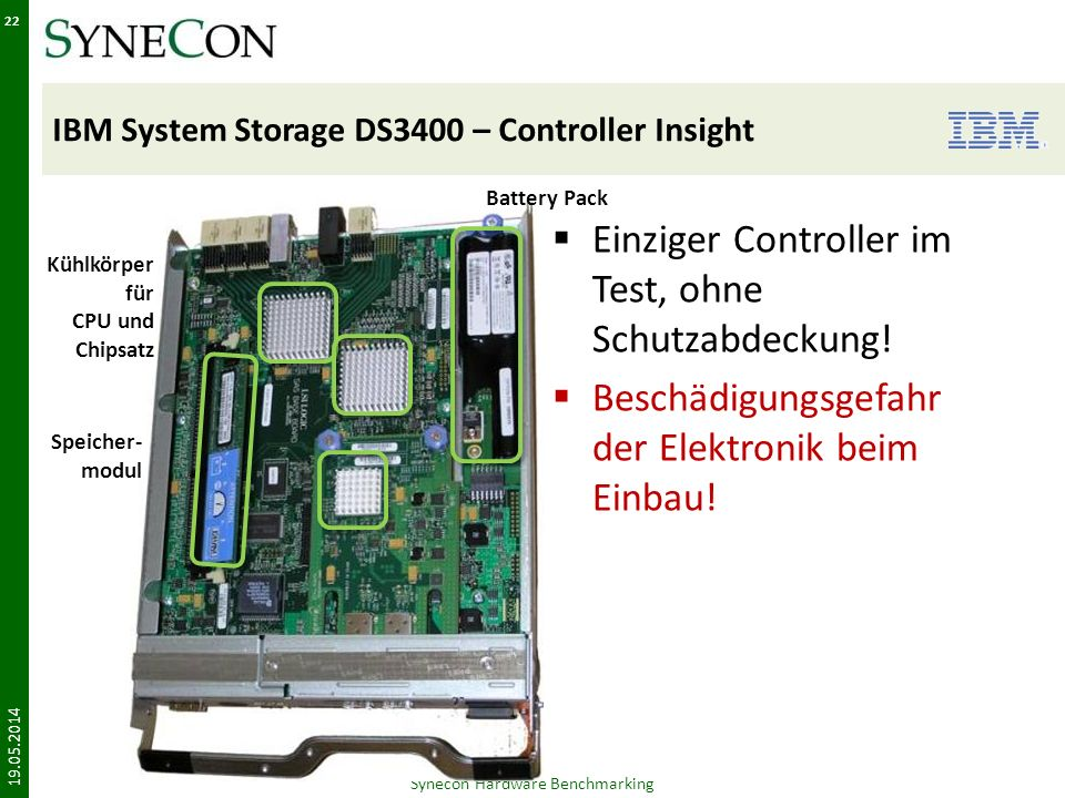 IBM System Storage DS3400 – Controller Insight