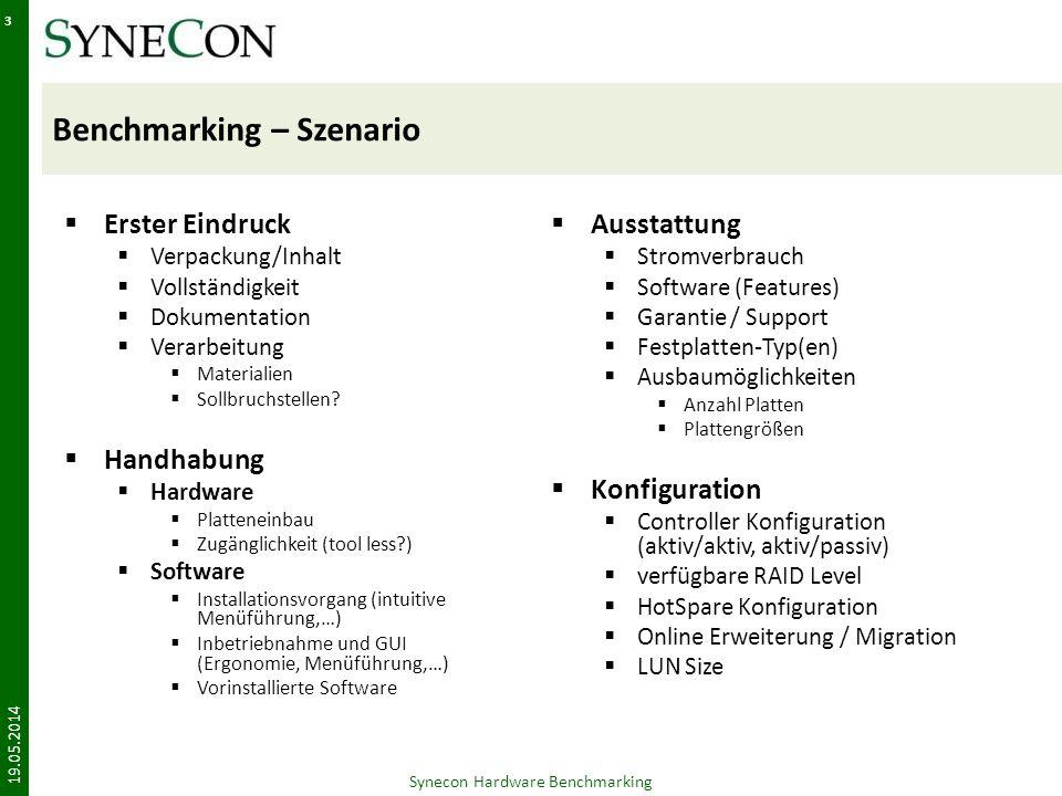 Benchmarking – Szenario