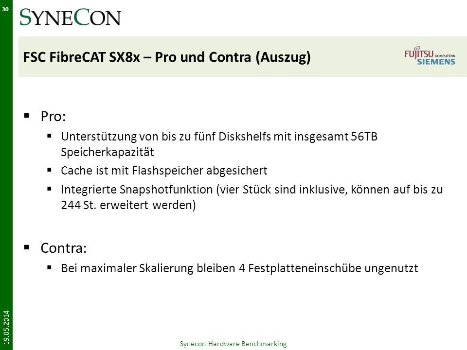 FSC FibreCAT SX8x – Pro und Contra (Auszug)