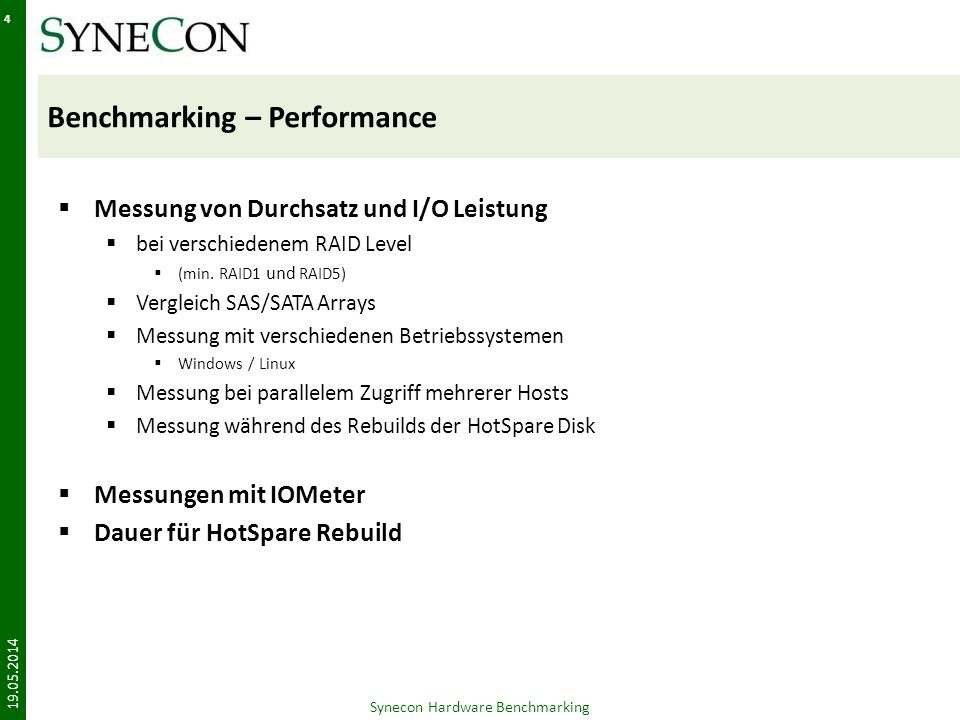 Benchmarking – Performance