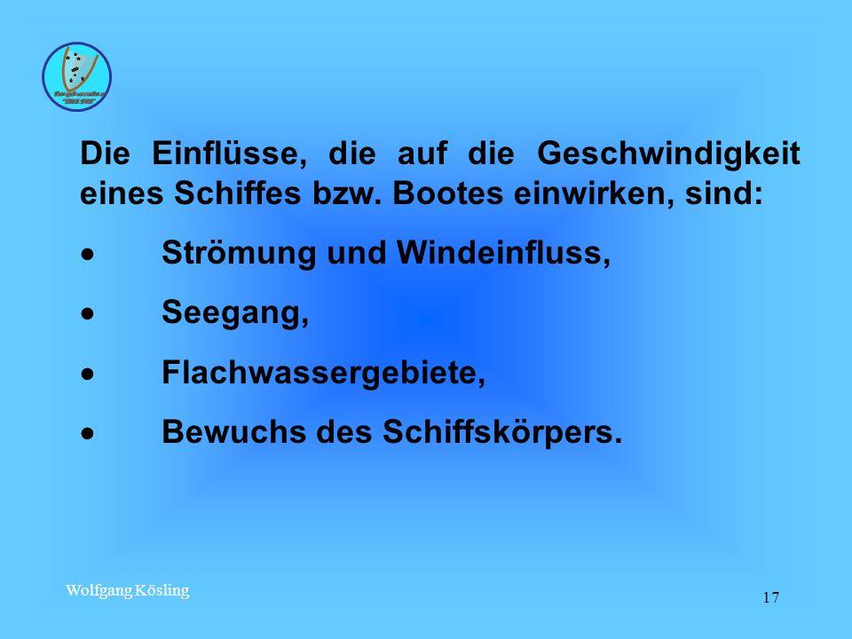 · Strömung und Windeinfluss, · Seegang, · Flachwassergebiete,