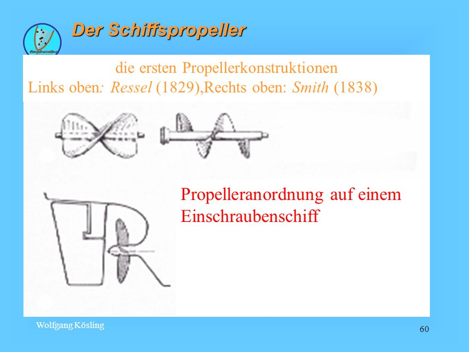 die ersten Propellerkonstruktionen