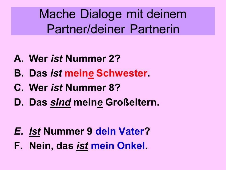 Mache Dialoge mit deinem Partner/deiner Partnerin
