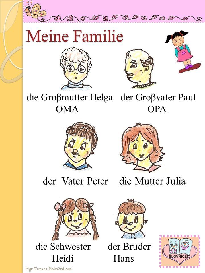 Meine Familie der Vater Peter die Mutter Julia