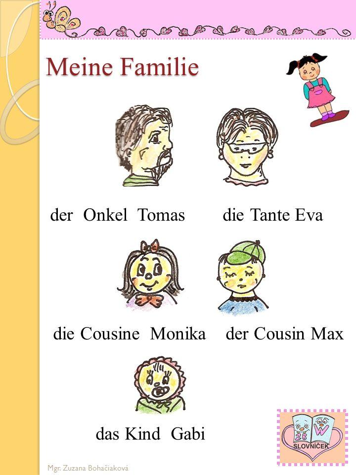 die Cousine Monika der Cousin Max