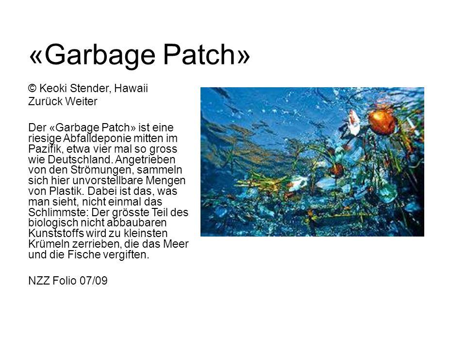 «Garbage Patch» © Keoki Stender, Hawaii Zurück Weiter