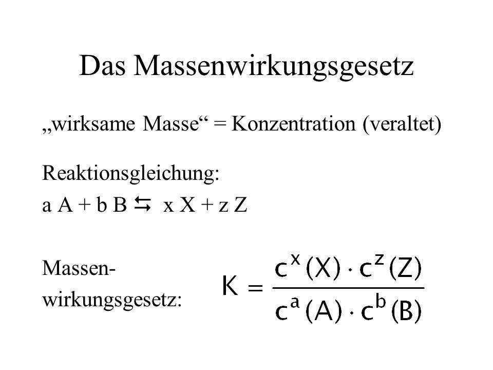 Das Massenwirkungsgesetz