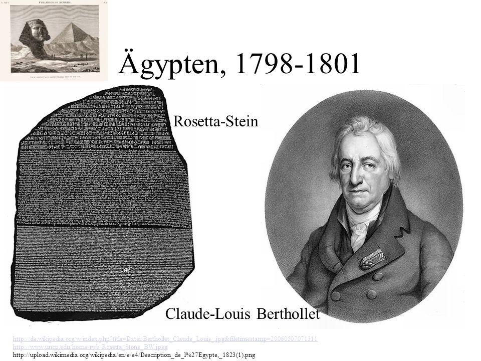 Ägypten, 1798-1801 Rosetta-Stein Claude-Louis Berthollet