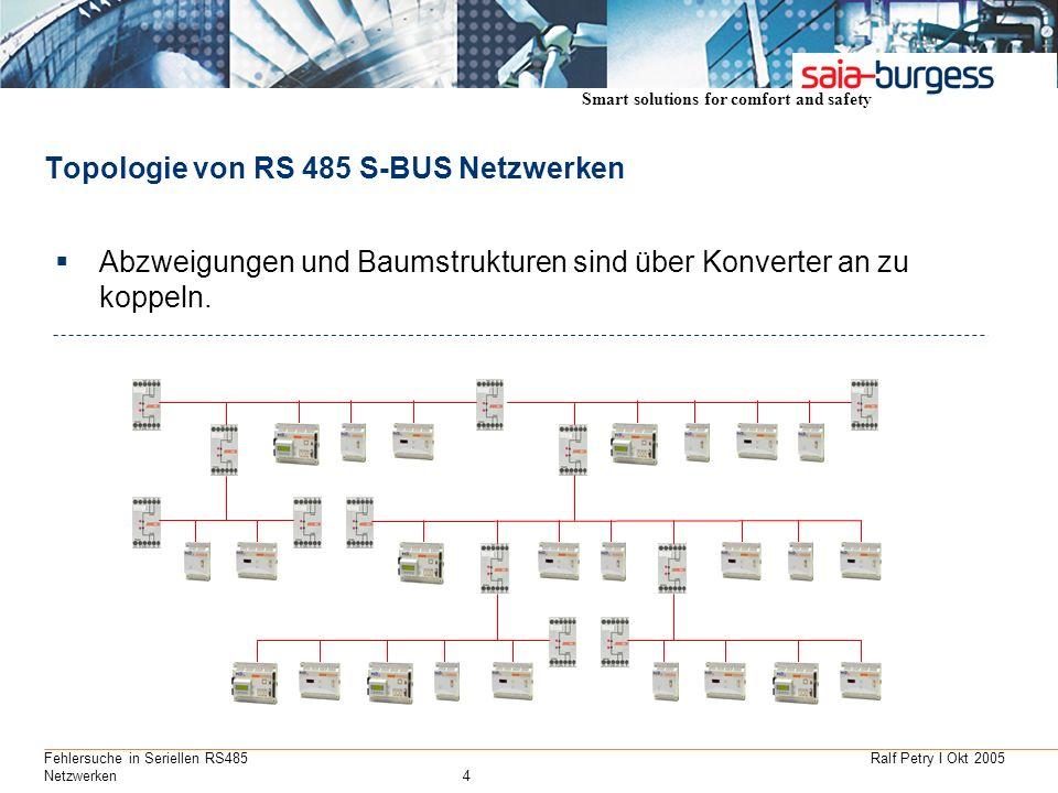 Topologie von RS 485 S-BUS Netzwerken