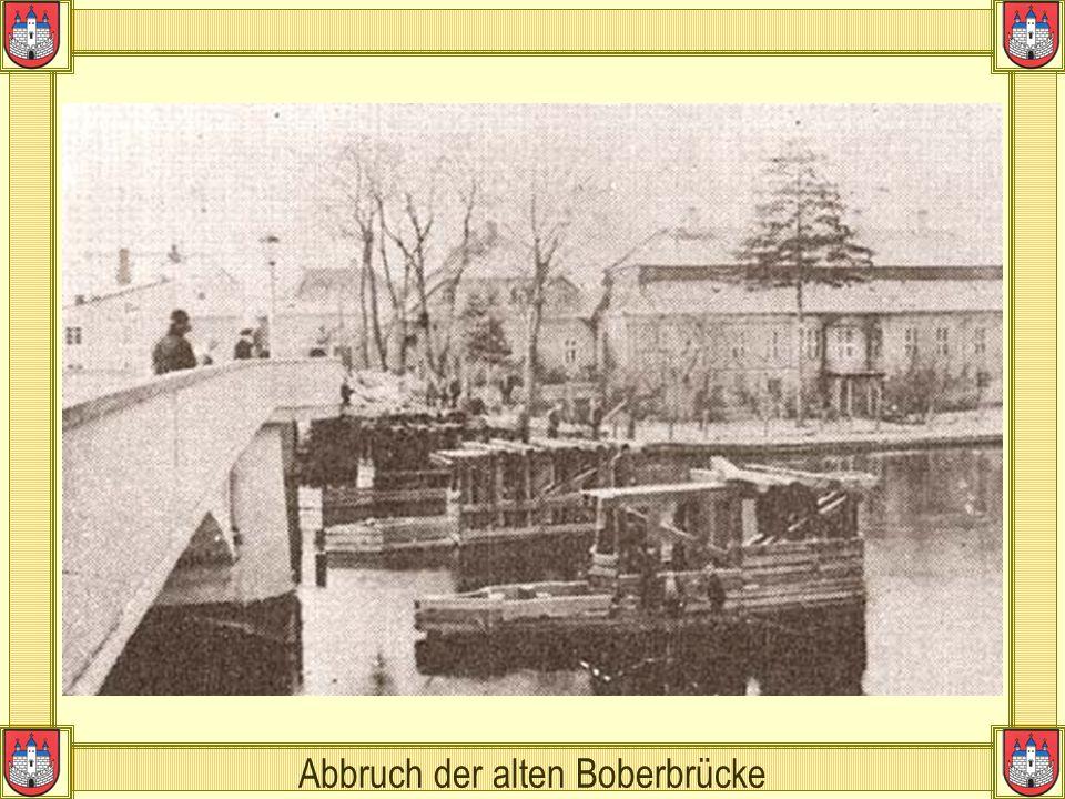 Abbruch der alten Boberbrücke