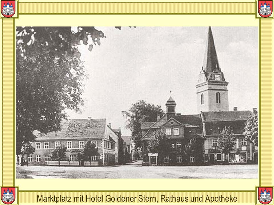 Marktplatz mit Hotel Goldener Stern, Rathaus und Apotheke